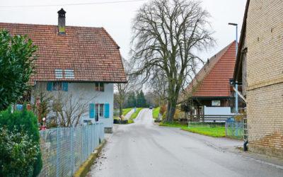 Der Dorfeingang wird entschleunigt