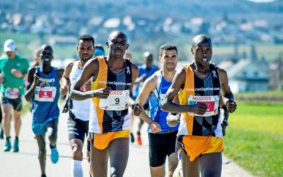 Kenianische Athleten dominierten den Lauf