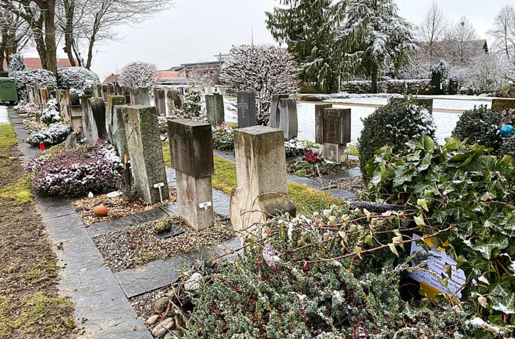 Nach Ostern werden Grabfelder aufgehoben
